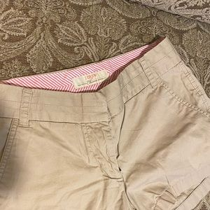 JCrew 100% cotton chino shorts